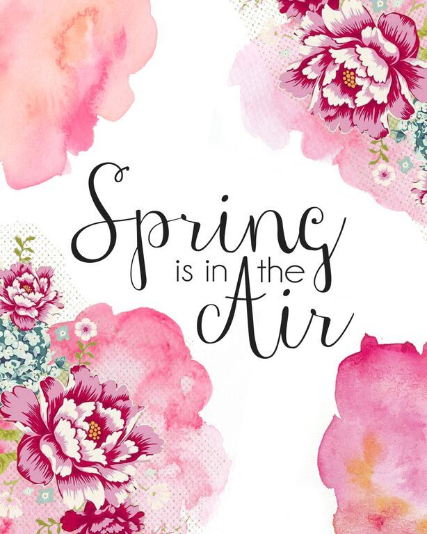 Spring Is In The Air Print Capturingjoy Hires Jpg Spring Printables Spring Quotes Spring Art