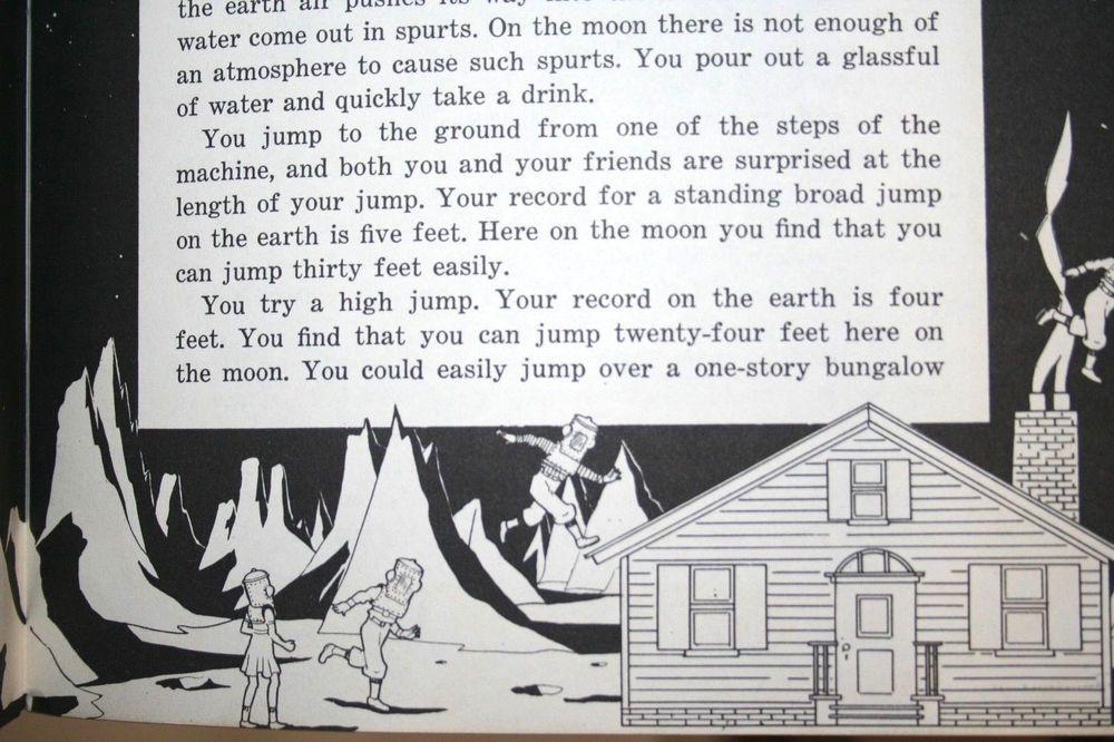 1950s Children Science School Book Earths Nearest Neighbor Moon Space Travel Vtg