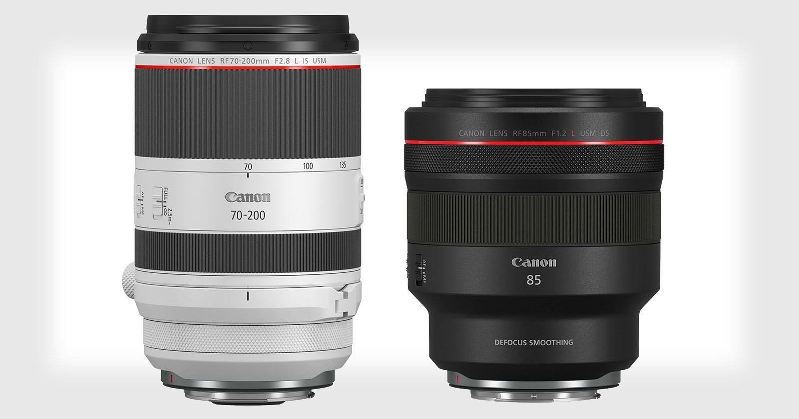 Canon Unveils Rf 70 200mm F 2 8l Is And 85mm F 1 2l Ds Is Lenses Canon Camera Tips Gopro Photography Camera Hacks