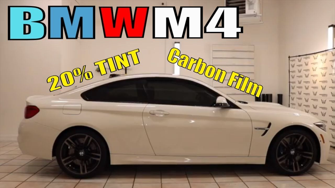 20 window tint on a White bMW M4 YouTube Bmw m4