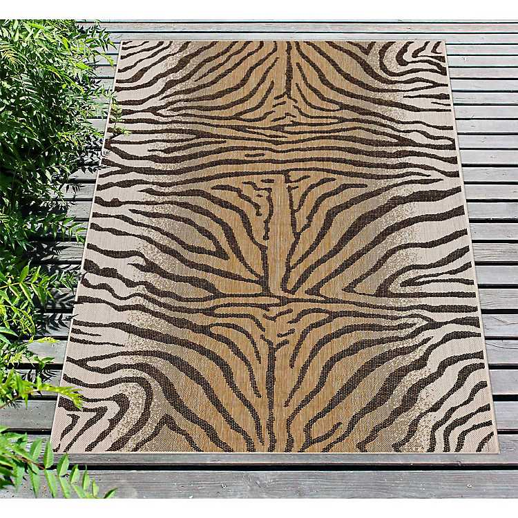 Animal Print Indoor Outdoor Area Rug 8x10 From Kirkland S Rugs 8x10 Area Rugs Area Rugs Indoor outdoor area rugs 8x10
