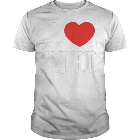 I Love Heart NH New Hampshire T Shirt
