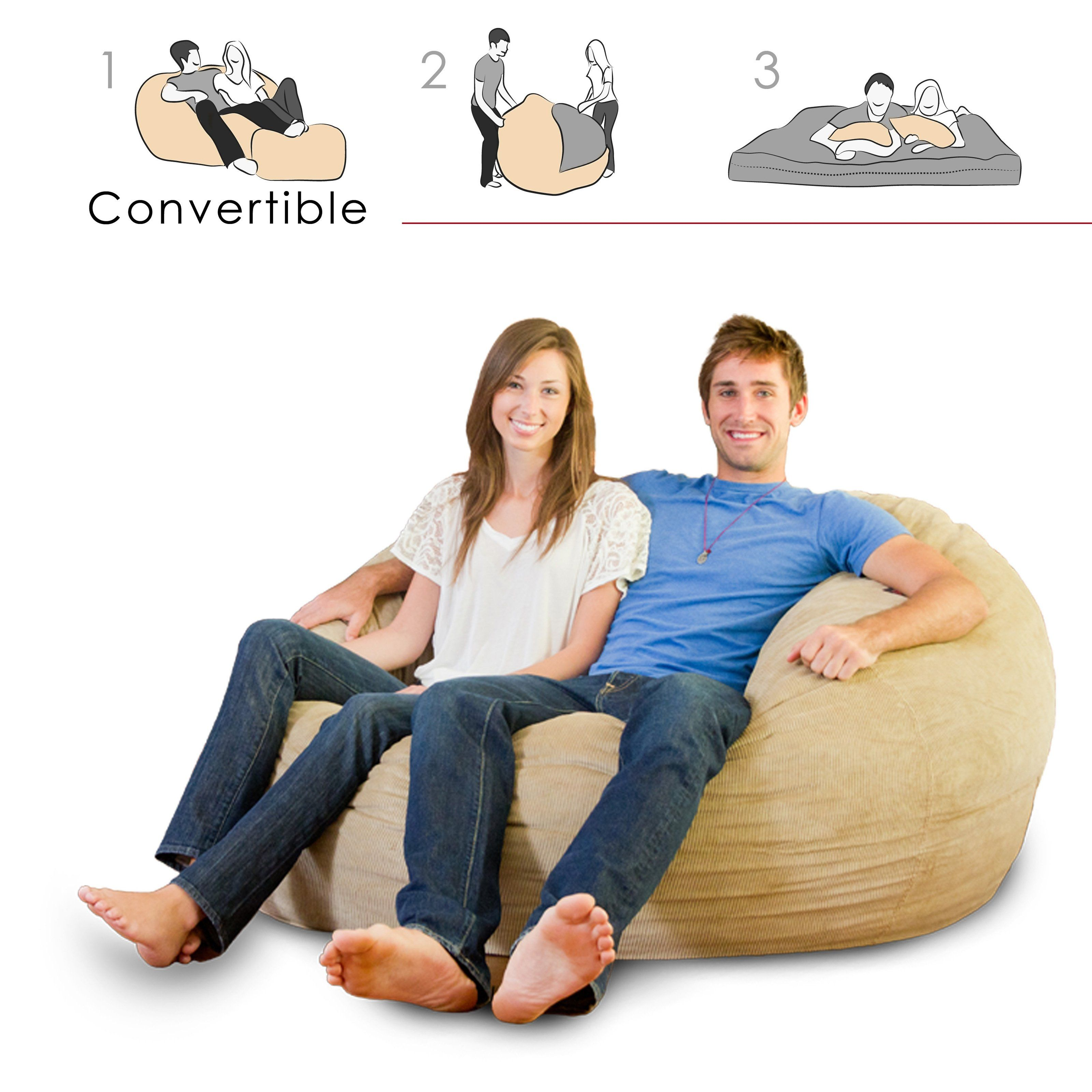 Prime Have To Have It Corda Roys King Size Convertible Foam Bean Beatyapartments Chair Design Images Beatyapartmentscom