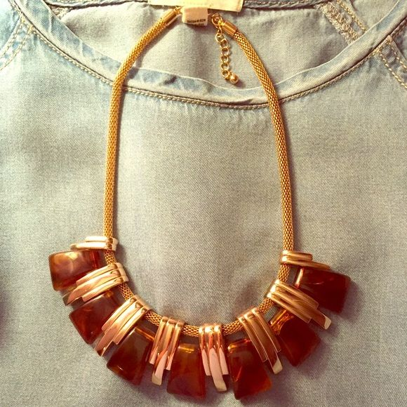 Forever 21 Necklace Tortoise shell and gold necklace Forever 21 Jewelry Necklaces