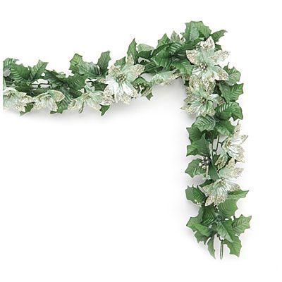 BigLots 6\u0027 Glitter Poinsettia Chain Garland at Big Lots #BigLots