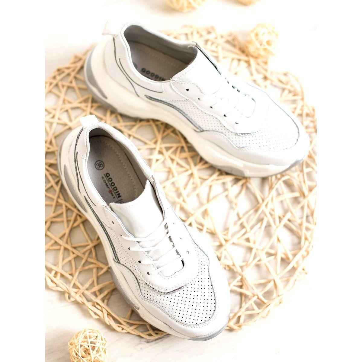 Goodin Skorzane Sneakersy Biale Wielokolorowe Shoes Puma Sneaker Sneakers