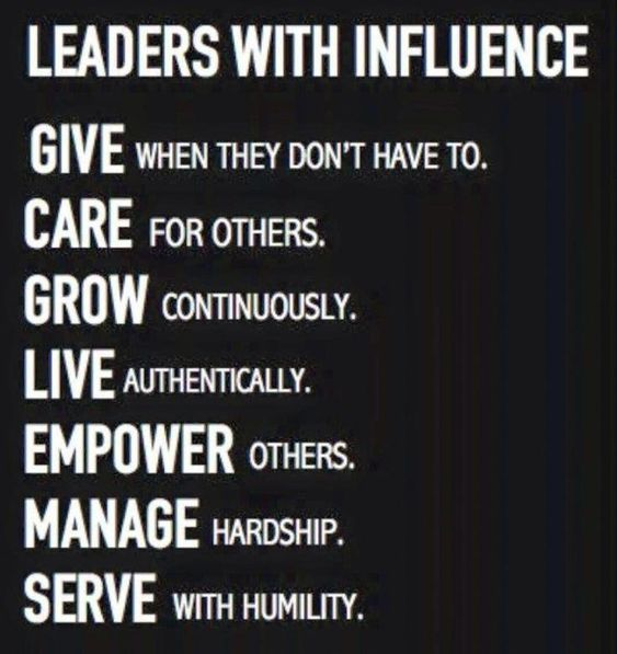 Leaders With Influence Do This Every Day Leadership Quote