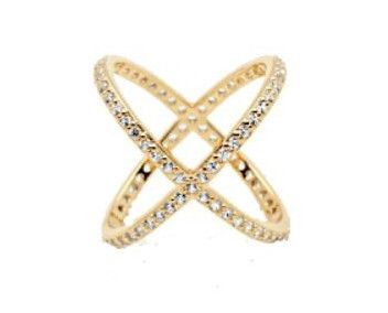 Criss Cross Ring in Gold