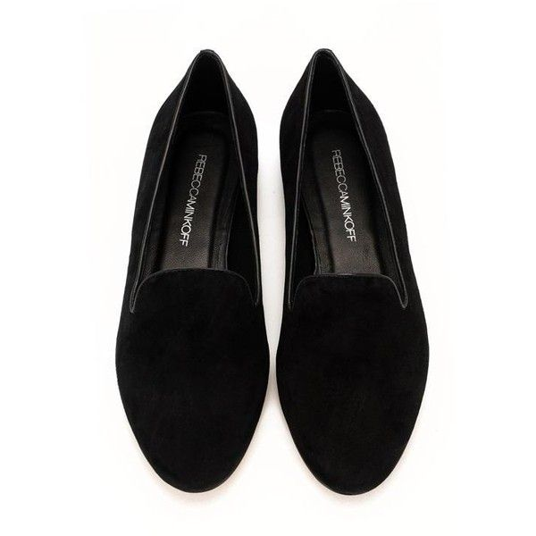 Belgian Loafer- Black Suede (€79) ❤ liked on Polyvore featuring shoes, loafers, flats, black, flat shoes, women, loafer shoes, suede flats, black suede flats and rebecca minkoff flats