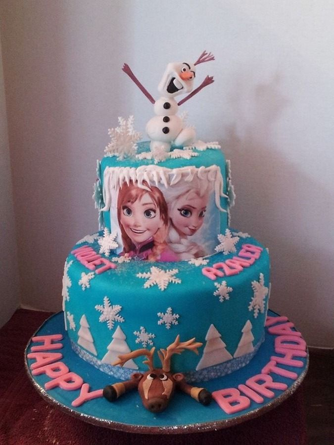 Frozen Birthday Cakes Frozen birthday cake Kids Birthday