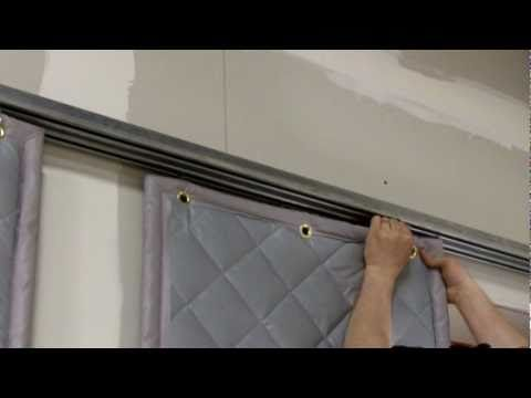 Soundproofcurtain Com Installing A Barrier Backed Quilted Sound Curtain Sound Proofing Sliding Barn Door Hardware Curtains