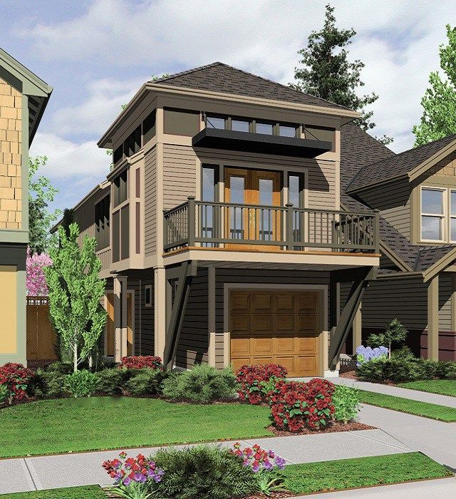 Narrow lot house plans are difficult to find product name for Narrow lot modern infill house plans