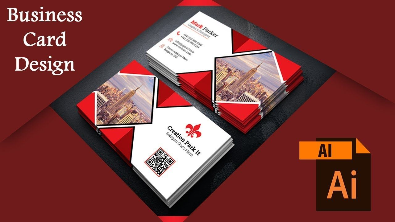 How To Business Card Design In Adobe Illustrator Cs6 Business Card Design Card Design Business Cards Creative