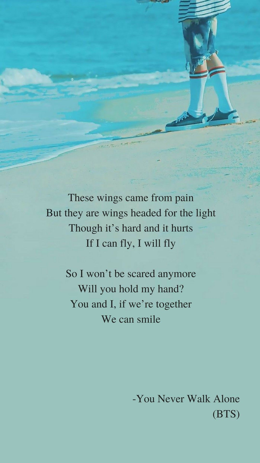 A supplementary story: You Never Walk Alone by BTS Lyrics wallpaper