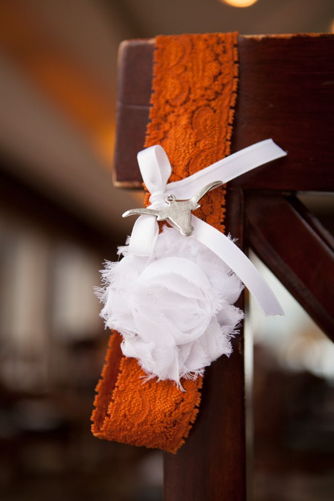 University of Texas longhorn garter belt by Stylish Bride on Etsy: http://www.etsy.com/shop/StylishBride  Photo by Micah Alexander Photography