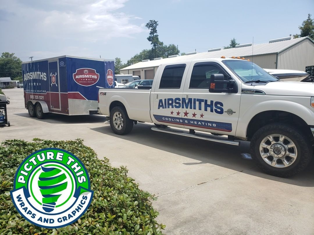 Airsmiths Hvac Truck And Trailer Wrap In 2020 Gulfport Mississippi Car Wrap Louisiana
