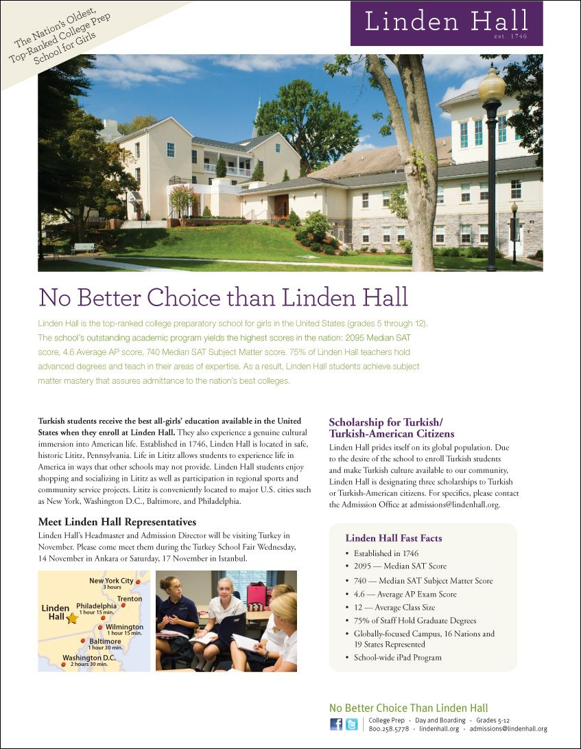 Print Advertisement For Linden Hall Introducing The Brand To