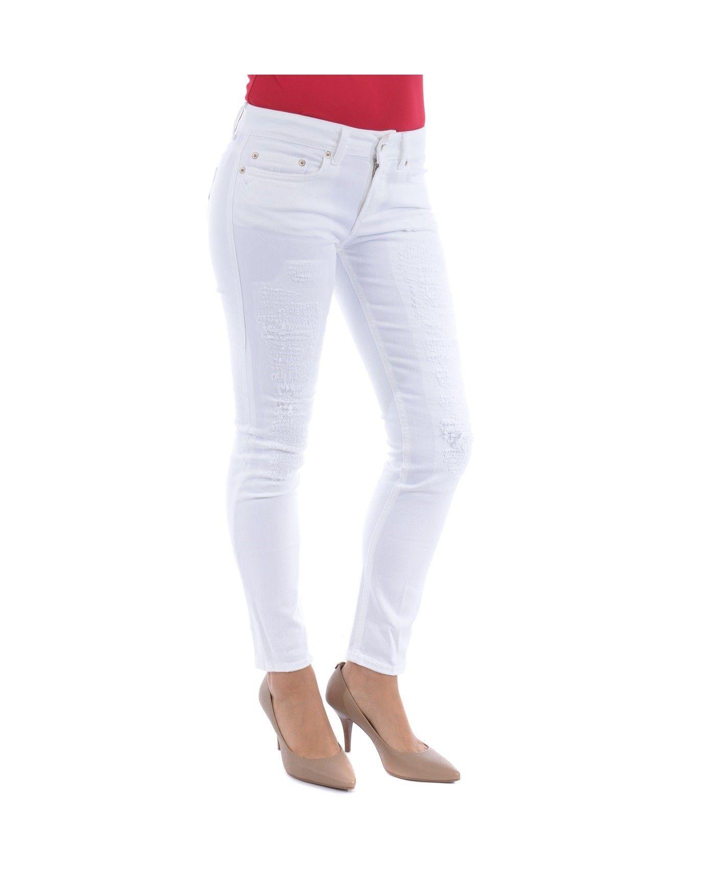 Jeans Dondup donna p692 b5009dv ptd 000 monroe bianco