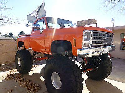 Monster Truck 1978 Chevrolet Scottsdale Stepside 49in Tires 24in