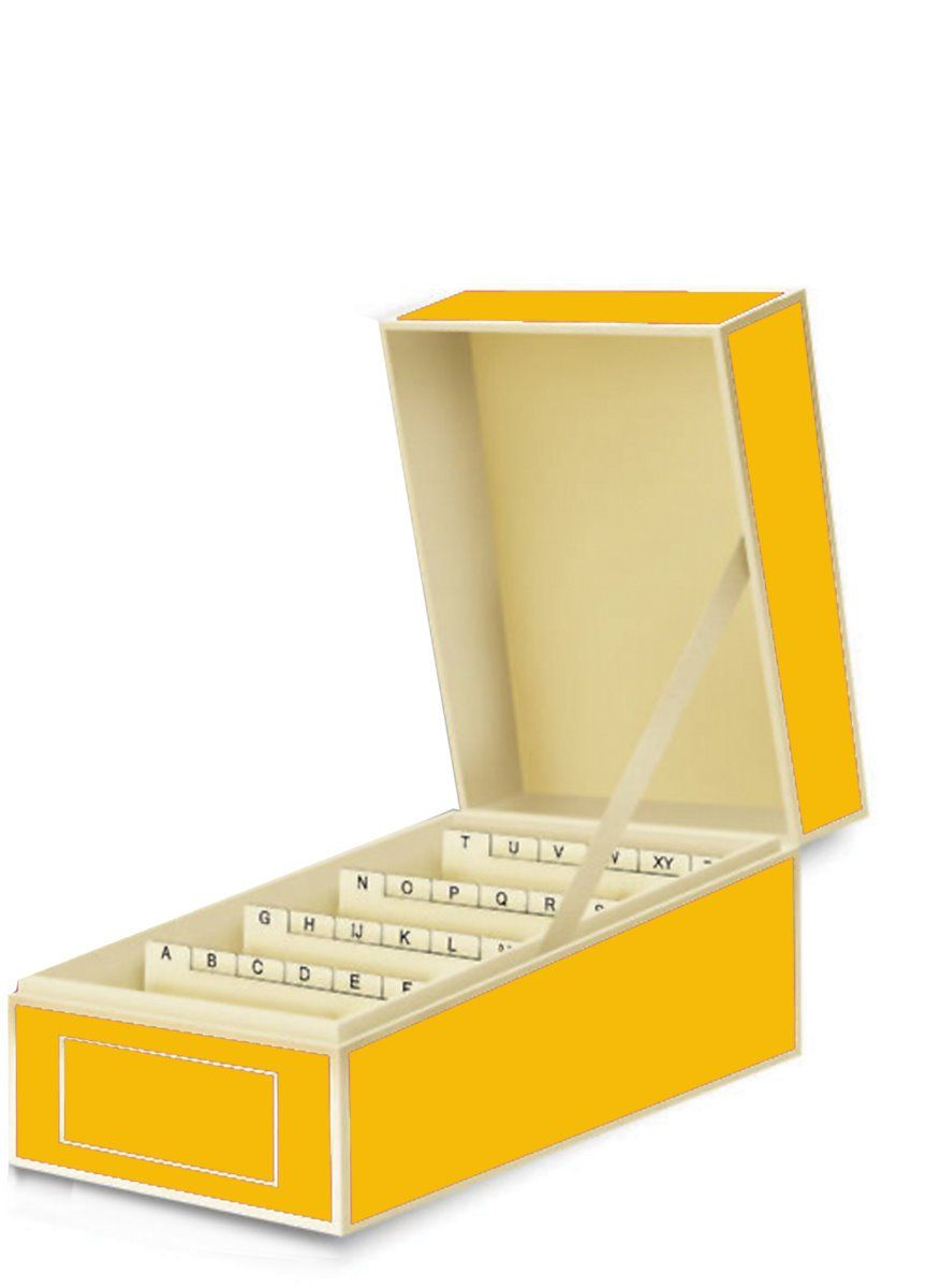AmazonSmile: Semikolon Business Card File Box, Dividers A to Z ...