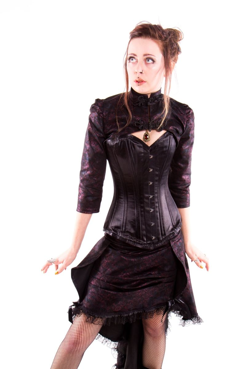 Cleather Skirt Top Vegan Faux Leather Rock Steampunk Fantasy Goth