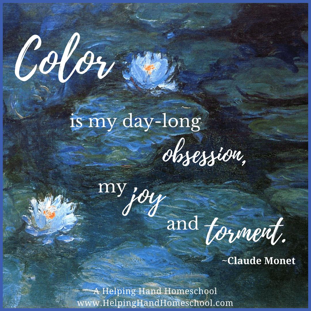 Artist Study And Free Activities Claude Monet Free Art