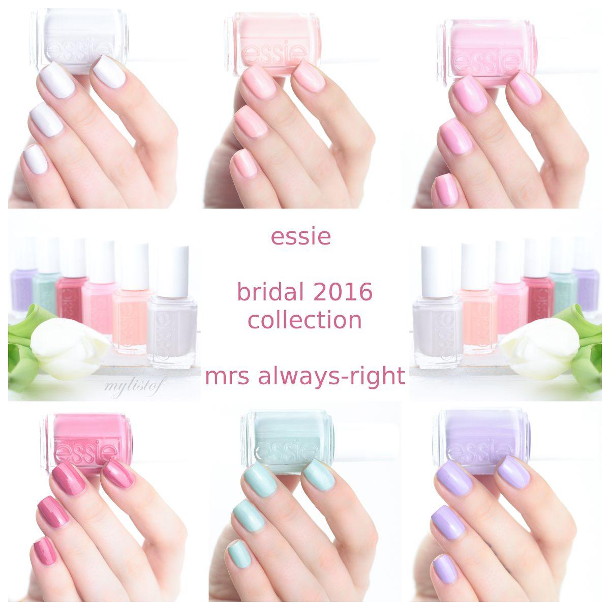 essie bridal 2016 collection mrs always right