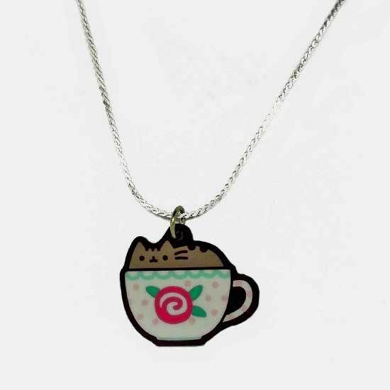 Pusheen Necklace - Teacup - Pusheen the Cat Jewellery Official Cute Kawaii…