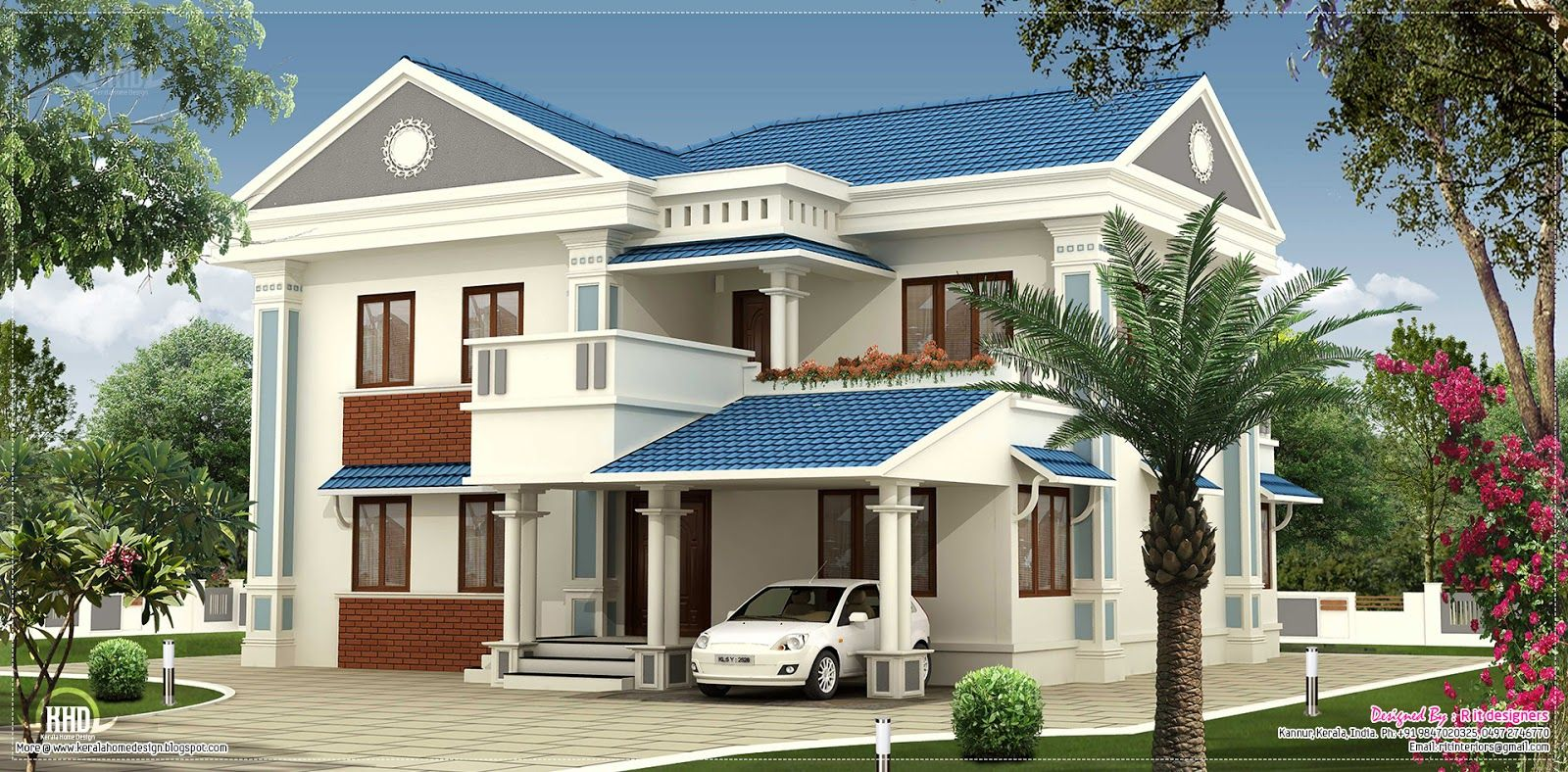 2000 Sq Feet Beautiful Villa Elevation Design Kerala House
