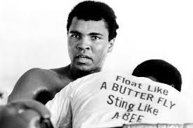 Muhammad Ali is an American former professional boxer, generally considered among the greatest heavyweights in the sport's history.  Ali is today widely regarded for the skills he displayed in the ring plus the values he exemplified outside of it: religious freedom, racial justice and the triumph of principle over expedience.