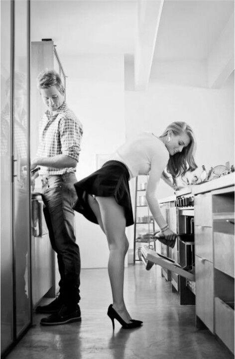 Flirting in the kitchen