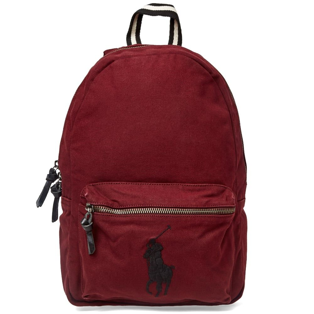 POLO RALPH LAUREN POLO RALPH LAUREN CANVAS POLO PLAYER LOGO BACKPACK.   poloralphlauren  bags  leather  canvas  backpacks  cotton 4dd377b19b5d2