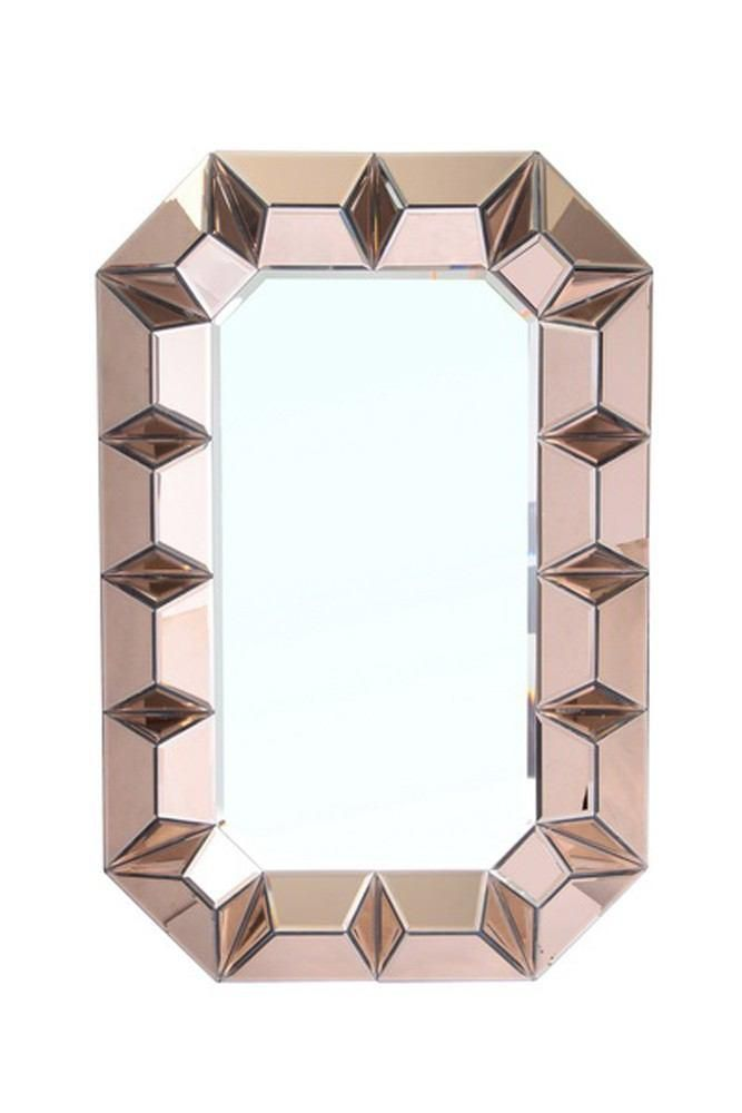 Bungalow 5 Romano Modern Contemporary Venetian Wall Mirror Finish Sapphire Blue Vozeli Com