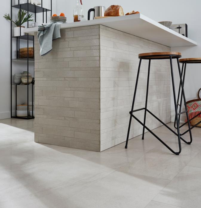 Mosaique Sol Et Mur Blanc Lapatto 30 X 30 Cm Palemon Stone En 2020 Carrelage Sol Castorama Mur Blanc