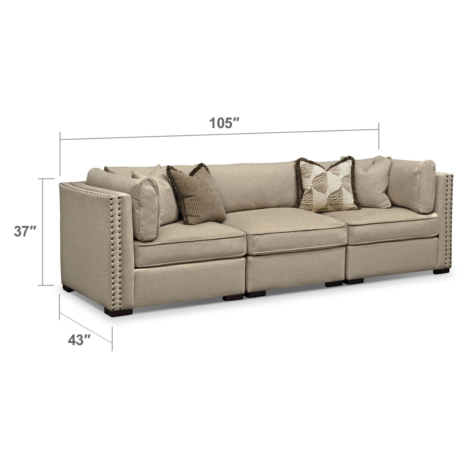 With Its Sandy Taupe Hue And Its Low Profile, The Athens Sectional Sofa  From Ultimate Comfort By Kroehler™ Makes A Magnificent Addition To Many  Design ...