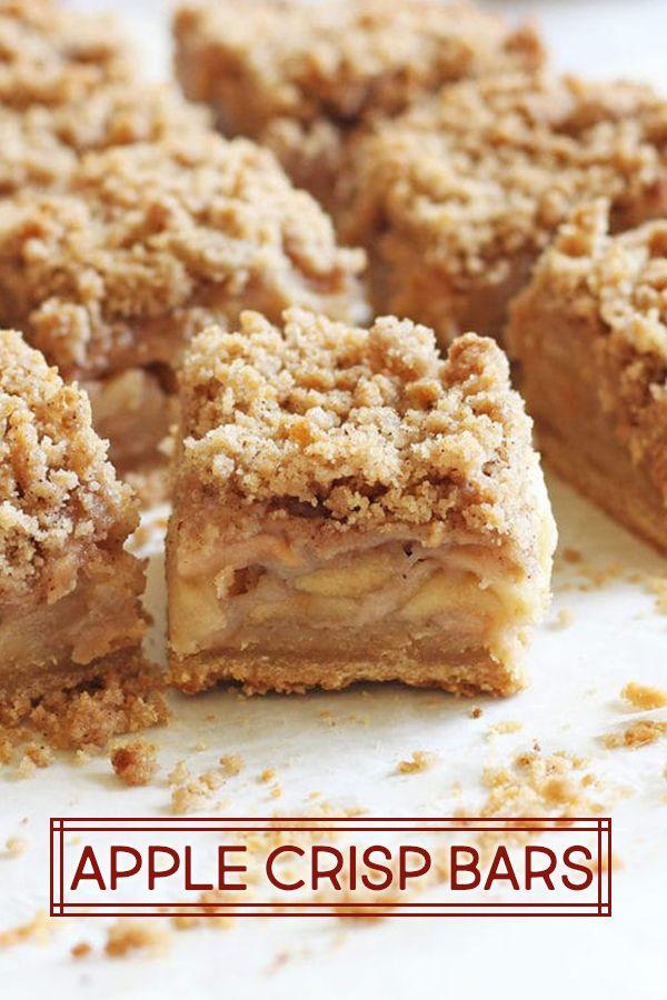 Apple Crisp Bars | If You Give a Blonde a Kitchen #applecrisprecipe
