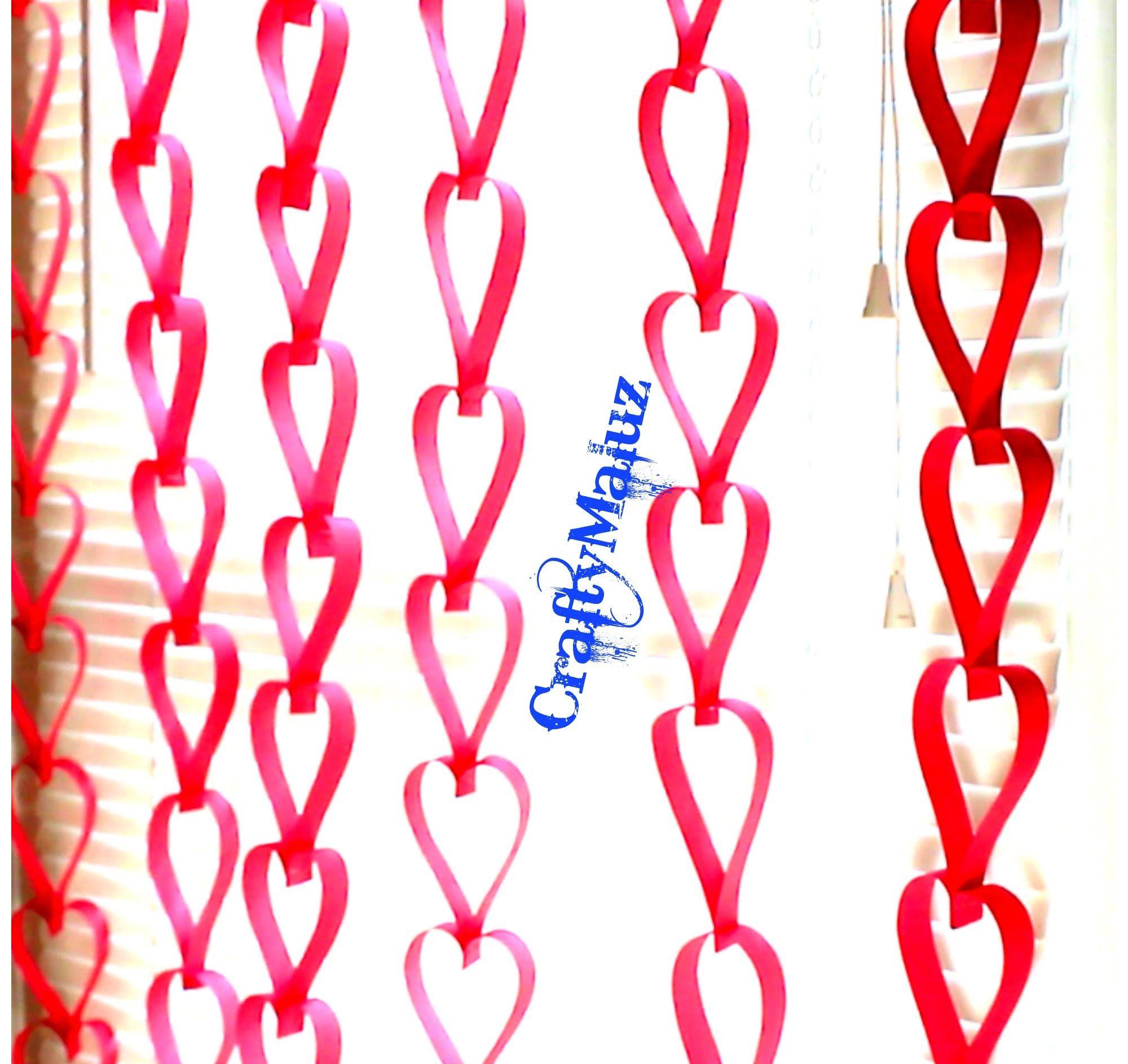 Diy Decoracion Para San Valentin Corazones Colgantes Para Decorar - Decoracion-san-valentin-manualidades