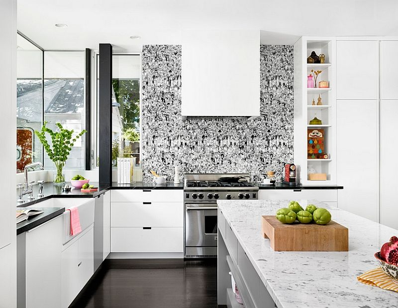 Kitchen Wallpaper Ideas Wall Decor That Sticks House Modern