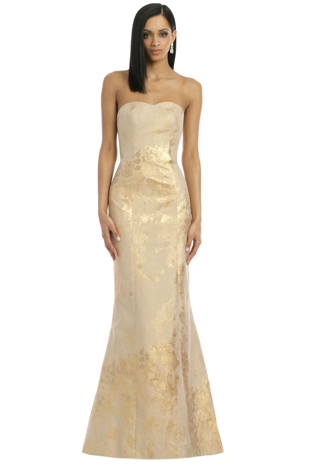 Where can i rent a wedding dress  Gold and champagne flute wedding dress  Making Waves Like the