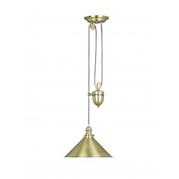 Elstead lighting provence single light rise and fall pendant with aged brass finish elstead lighting