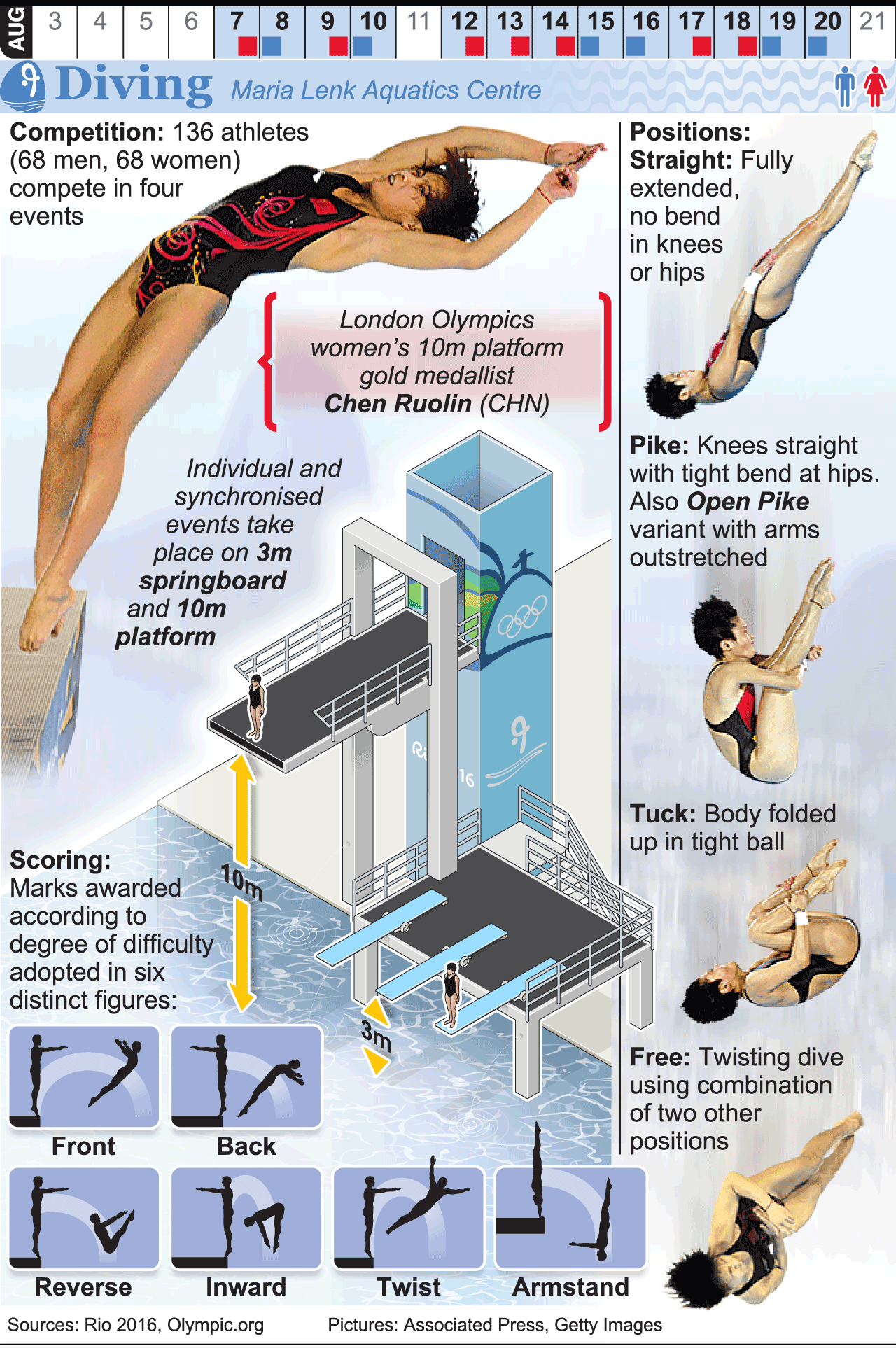 Rio 2016 Olympic Diving Infographic Olympic Diving Diving Springboard Olympics