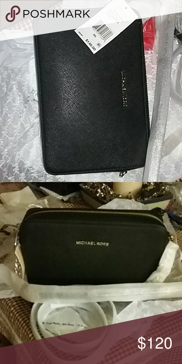 f730e73995cb Spotted while shopping on Poshmark  Authentic Michael Kors jet set crossbody!   poshmark  fashion  shopping  style  Michael Kors  Handbags