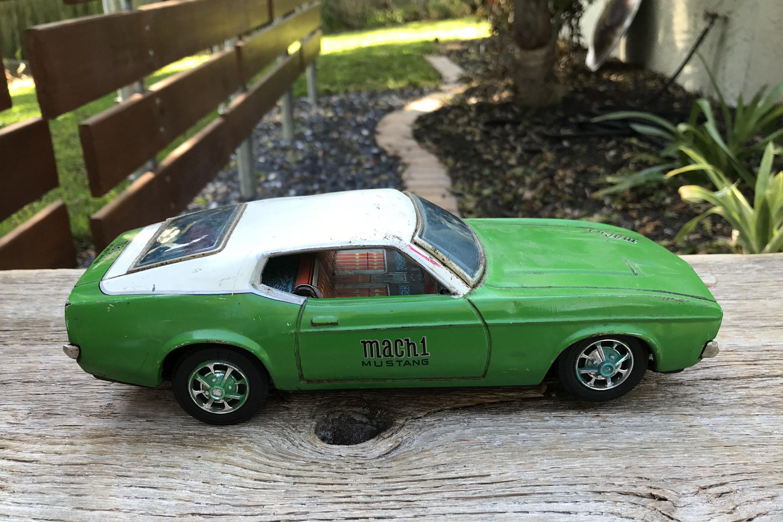 Vintage toy mustang car Mach 1 Tin car Made in Japan ...