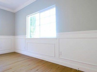 Use picture frames as wainscoting. | Wainscoting, Easy and House