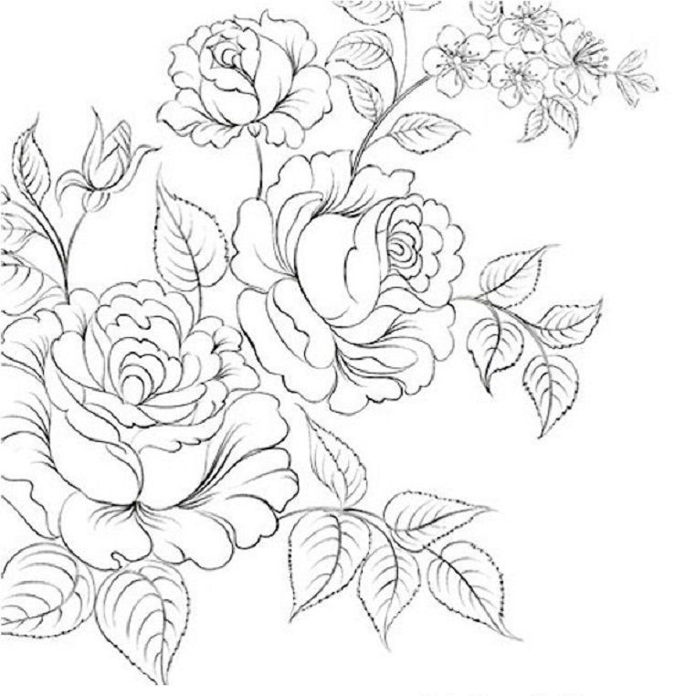 Realistic Flower Coloring Pages | Flower coloring pages ...