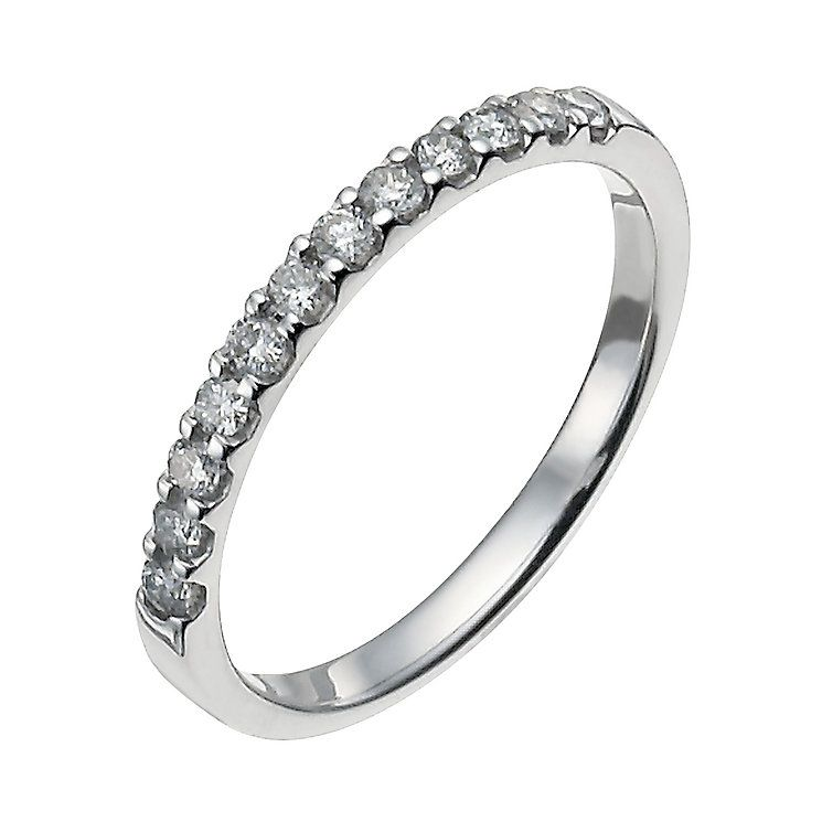 18ct white gold quarter carat eternity ring Product number