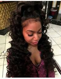 Image Result For Half Up Half Down Weave Hairstyles Pinterest
