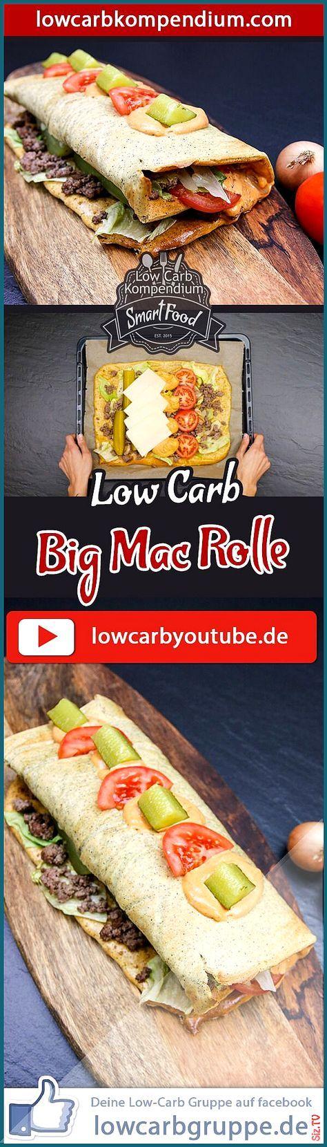 Big Mac Rolle Die Big Mac Rolle Low-Carb ist ein sehr pfiffiges und au ergew hnliches Low-Carb Rezep...