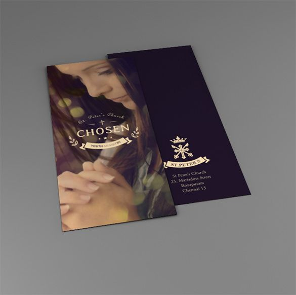 free church brochure templates