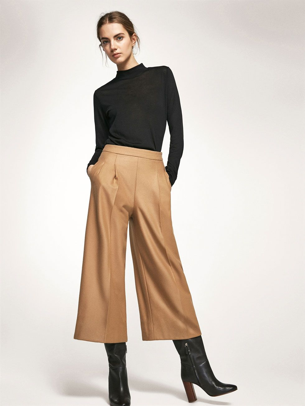 Autumn winter 2016 Women´s CAMEL CULOTTES at Massimo Dutti for 2495.  Effortless elegance! 5b8a6926277c7